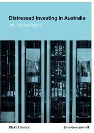 Distressed Investing in Australia 2010 - PwC