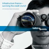 Infrastructure finance - PricewaterhouseCoopers