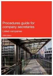 Procedures guide for company secretaries | Listed companies - PwC