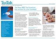 The New R&D Tax Incentive: Key actions for your business - PwC