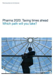 Pharma 2020: Taxing times - Which path will you take? - BioValley