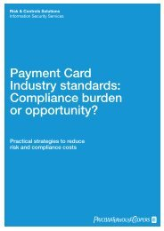 Compliance burden or opportunity? - PricewaterhouseCoopers