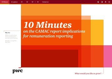 The CAMAC report implications for remuneration reporting – May 2011