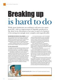 Breaking up is hard to do - PricewaterhouseCoopers