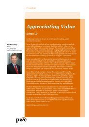 Appreciating Value 10 - PricewaterhouseCoopers