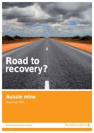 Road to recovery? - PricewaterhouseCoopers