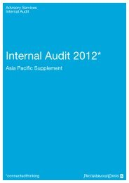 Internal Audit 2012* - PricewaterhouseCoopers