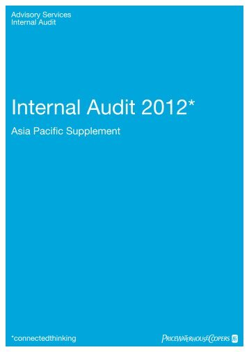 Internal Audit 2012* - PricewaterhouseCoopers