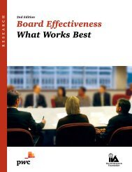 Board Effectiveness What Works Best - PwC