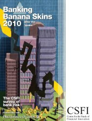 Banking Banana Skins 2010 - PwC