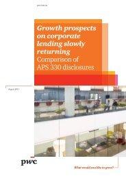 APS 300 disclosures comparison - Aug 2011