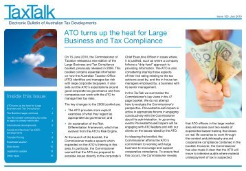 ATO turns up the heat for Large Business and Tax Compliance - PwC