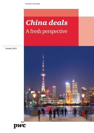 China Deals – a new perspective (English only) - PwC Belgium