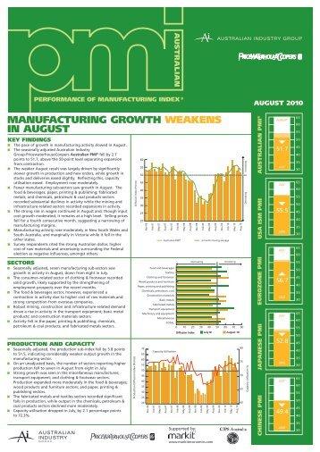 Aug 2010 - PricewaterhouseCoopers