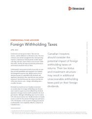 Foreign Withholding Taxes - PWL Capital
