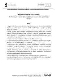 regulamin uczestnictwa szkół w projekcie innowacyjne ... - PWN IWS