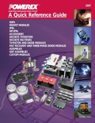 A Quick Reference Guide - Powerex