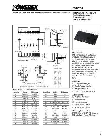 Intellimod™ Module PS22054 - Powerex