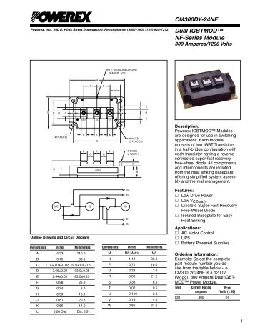 Dual IGBTMOD™ NF-Series Module CM300DY-24NF