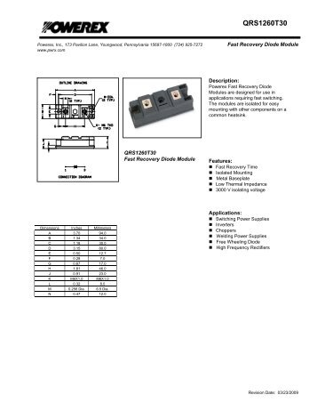QRS1260T30 - Powerex
