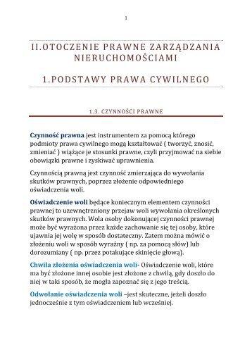 Otoczenie prawne ZN Podstawy prawa cywilnego cz.2.pdf