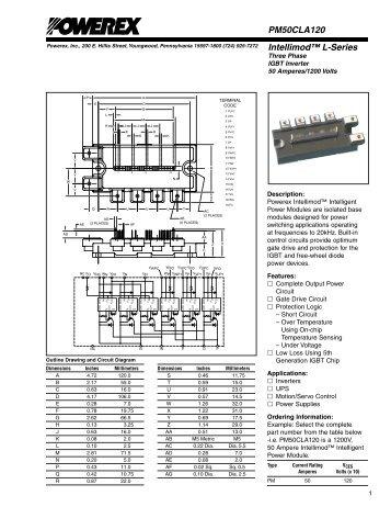 Intellimod™ L-Series PM50CLA120 - Powerex