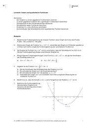 Lernziele lineare und quadratische Funktionen Sie ... - Webcouture.ch
