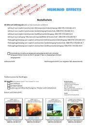 Bücher Bestellformular - Pyrotechnikerschule Hummig Effects e.K.