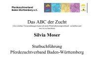 Das ABC der Zucht Silvia Moser - Pferdezuchtverband Baden ...