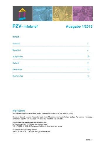 PZV- Infobrief Ausgabe 1/2013 - Pferdezuchtverband Baden ...