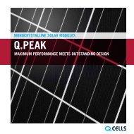 q.peak solar modules - Hanwha Q CELLS