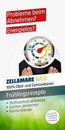 zellamare diätplan - Quintessenz health products GmbH