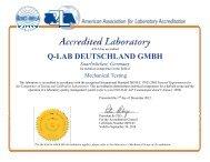 ISO17025-A2LA - Q-Lab