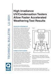 LU-8031 - High Irradiance UV Testers - Q-Lab