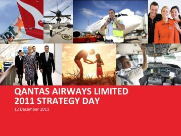 Qantas Strategy Day Presentation 2011