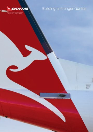 Notice of Meeting 2011 - Qantas