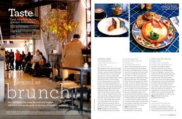 Pleased as Brunch - The Australian Way - August 2012 - Qantas