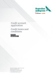 Credit account application Credit terms and conditions - Qantas