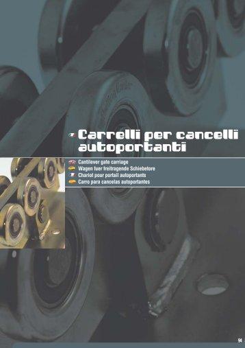 Carrelli per cancelli autoportanti - Amys.sk