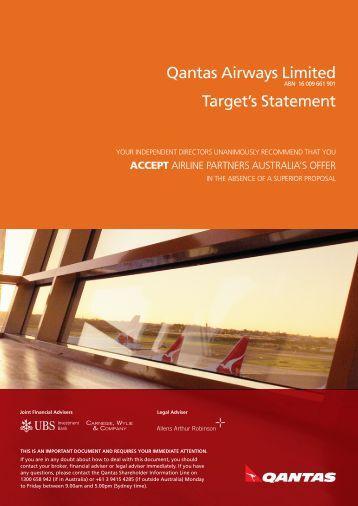 Strategic Management – Group report: Qantas case study analysis