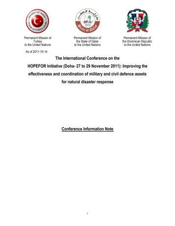 Information Note - Permanent Committee For Organizing Conferences