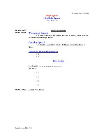 Guests of Honor Statements: - Permanent Committee For Organizing ...