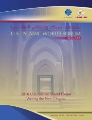 2010 US–Islamic World Forum Writing the Next Chapter - Brookings ...