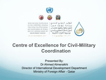 Centre of Excellence for Civil-Military Coordination worksheet