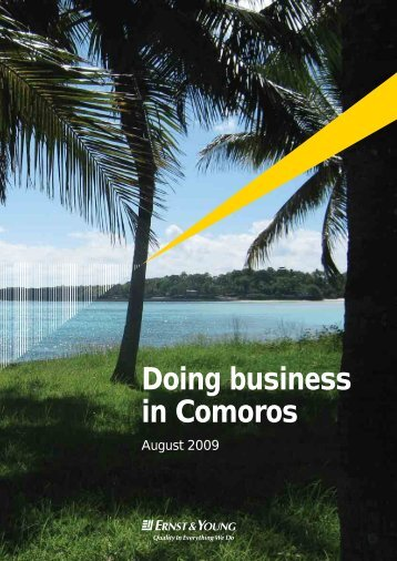 Doing business in Comoros - Permanent Committee For Organizing ...