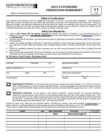 Verification Worksheet - Genius