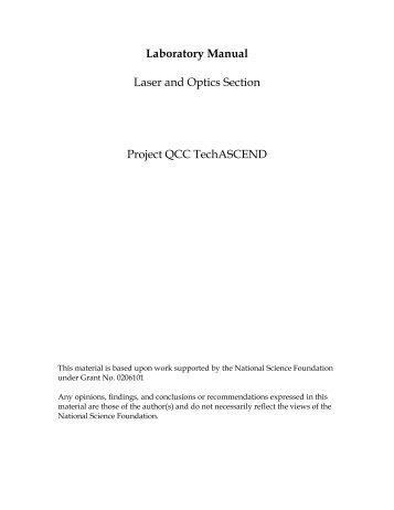 Laser & Optics Lab Manual - Queensborough Community College ...