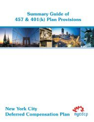 New York City Deferred Compensation Plan (401K)