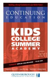 EDUCATION - Queensborough Community College - CUNY