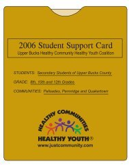 2006 Student Support Card - Quakertown Community School District